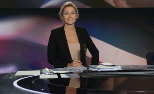 La présentatrice Anne-Sophie Lapix.