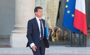 Manuel Valls à l'Elysée le 19 août 2015.