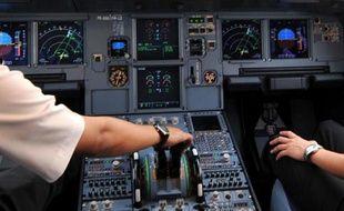 Un cockpit de A320, le 24 septembre 2008