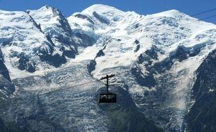 Vue du Mont-Blanc depuis Chamonix, le 28 juin 2015