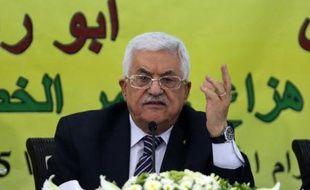 Le président palestinien Mahmoud Abbas, le 16 juin 2015 à Ramallah