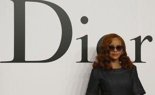 Rihanna lors du défilé automne/hiver Dior 2015-2016 à Tokyo