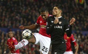 Manchester United face au FC Séville en Ligue des champions, le 13 mars 2018 à Old Trafford.