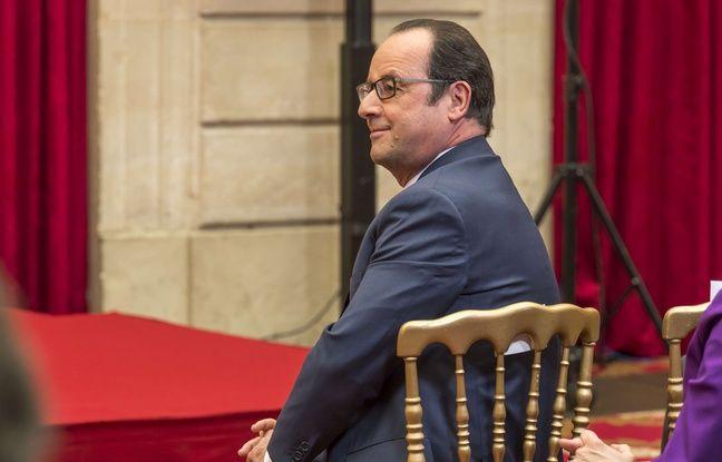 François Hollande au Palais de l'Elysée, le 13 mars 2017.