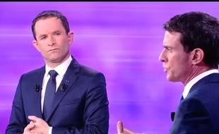 Capture écran France 2 des candidats à la primaire à gauche 25 janvier 2017