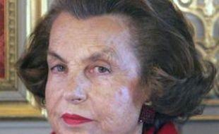 Liliane Bettencourt au Palais de l'Elysée le 18 avril 2005.