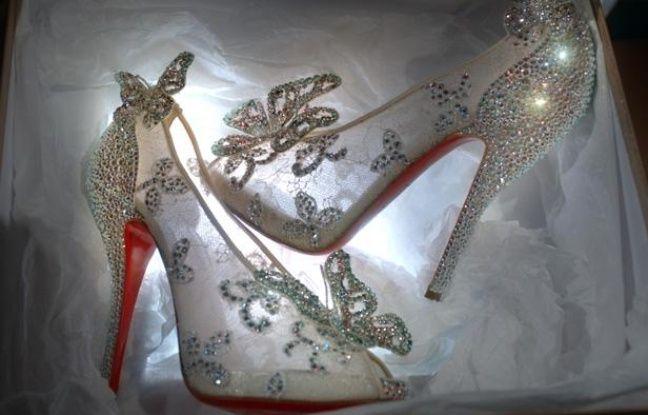 Les pantoufles de «Cendrillon» créées par Christian Louboutin.