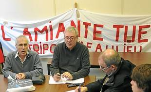 Une conférence de presse  de l'intersyndicale en 2011.