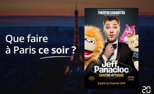Jeff Panacloc passe au théâtre des Variétés.