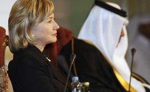 La secrétaire d'Etat américiane, Hillary Clinton, le 14 février à Doha.