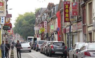 La rue Jules-Guesde, à Lille-Wazemmes.