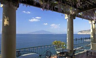 La baie de Naples et le Vésuve.