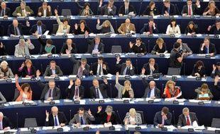 Les députés européens en session, le 19 avril 2012, au parlement de Strasbourg