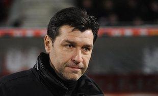 L'entraîneur de Reims Hubert Fournier en février 2013.