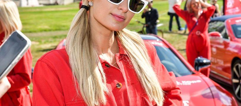 La star de télé-réalité Paris Hilton à Londres