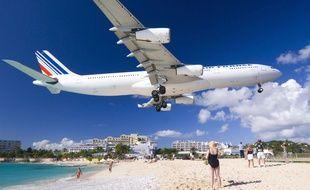 Un avion se pose à Saint-Martin (illustration).