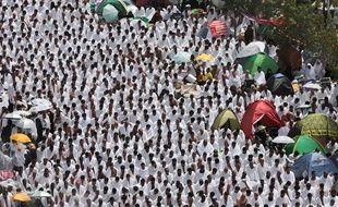Pèlerins à La Mecque le 23 septembre 2015.