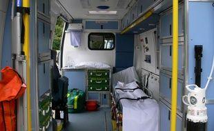 L'ambulance est restée garée pendant trente minutes.