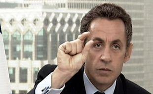 Nicolas Sarkozy lors de son intervention aux journaux télévisés de TF1 et de France 2, mercredi 23 septembre.