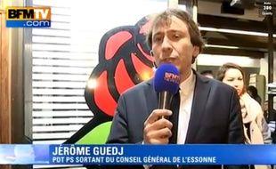 capture d'écran de l'interview de Jérôme Guedj par BFMTv dimanche 29 mars 2015