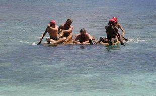 Les rouges dans l'équipe des radeaux, dans la saison7 de Koh-Lanta.