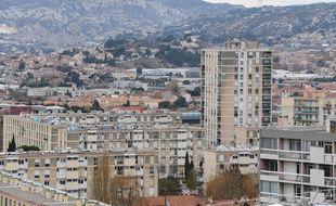 Vue sur les quartiers nord de Marseille