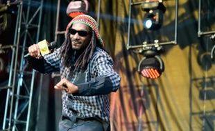 Le rappeur américain Snoop Dogg, le 21 juin 2015 en train de se produire au Firefly Music Festival de Dover, dans l'état de Delaware