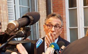 Guy Novès à la sortie du tribunal des prud'hommes de Toulouse, le 14 février 2019.