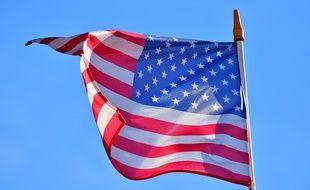 Le drapeau américain (illustration).