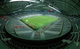 La pelouse du stade Pierre-Mauroy à Lille.