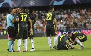 Ronaldo a été expulsé sévèrement lors de la rencontre entre la Juventus Turin et Valence en Ligue des champions, le 19 septembre 2018.