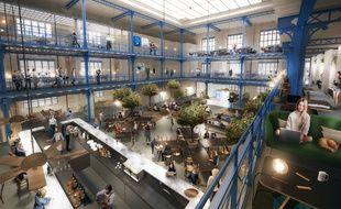 Au sein de la halle de l'ancienne usine Marie Brizard, l'accélérateur de Start up Héméra proposera près de 200 postes de travail sur 1.900 m2.