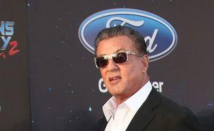 L'acteur Sylvester Stallone à la première hollywoodienne des Gardiens de la Galaxie 2