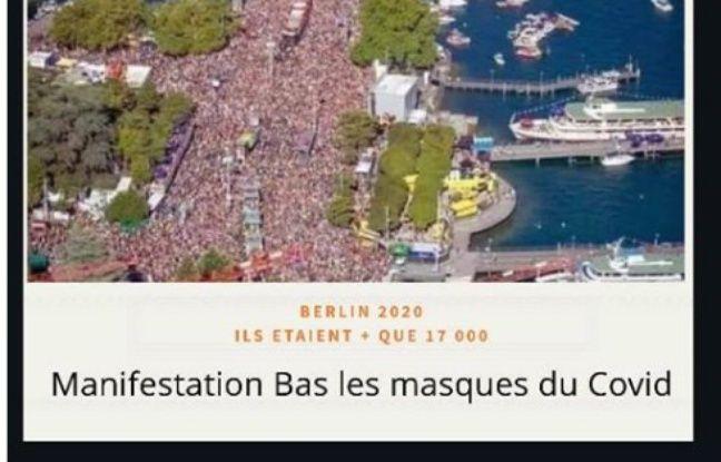 L'un des nombreux posts Facebook trompeurs sur la manifestation