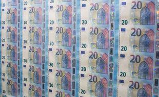 Présentation des nouveaux billets de 20 euros, le 24 novembre 2015