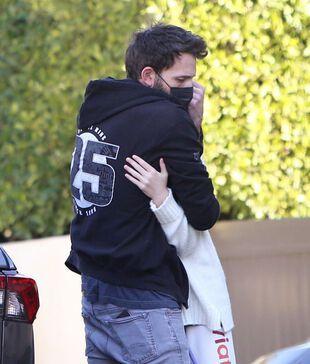 Ben Affleck et sa fille Seraphina, le 9 janvier 2021.