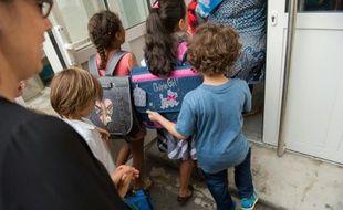 Rentrée scolaire le 1er septembre 2015 dans une école de Marseille