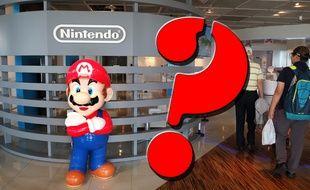Le logo de Nintendo et sa mascotte Mario dans un showroom à Tokyo, le 8 septembre 2016.