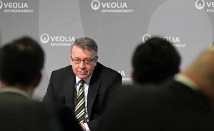 Antoine Frérot, PDG de Veolia, le 4 mars 2011 à Paris.