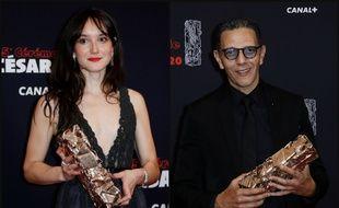 Anaïs Demoustier et Roschdy Zem ont remporté les prix d'interprétation des César 2020.