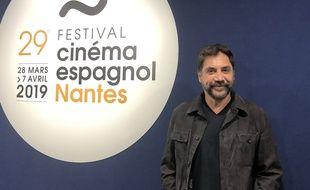 L'acteur Javier Bardem à Nantes, le 1er avril 2019