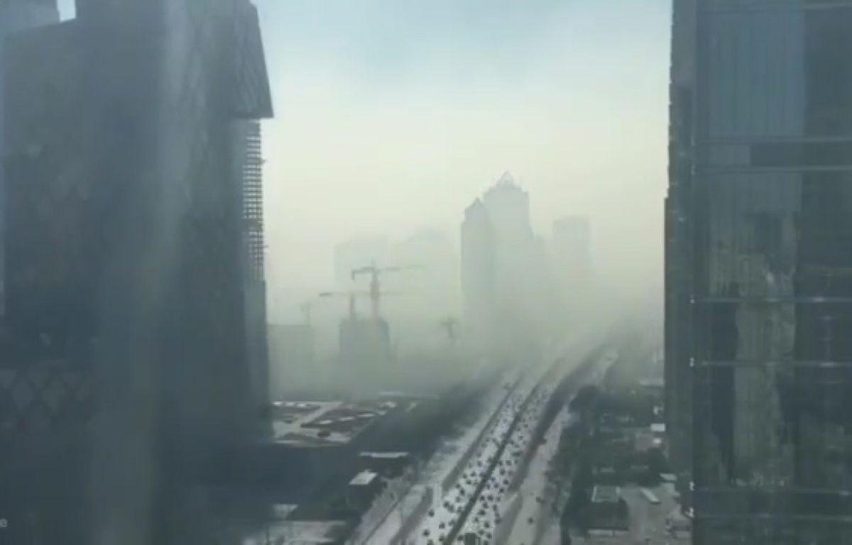 Nuage de pollution à Pékin – Capture d'écran