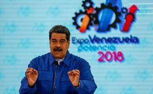 Nicolas Maduro, président du Venezuela, le 30 avril 2018 à Caracas.
