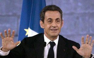 Nicolas Sarkozy à Avignon le 18 novembre 2011.