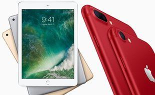 Le nouvel iPad 9,7 pouces d'entrée de gamme et l'iPhone 7 rouge seront disponibles fin mars.