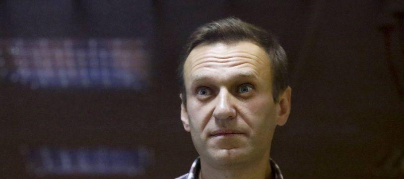 Alexeï Navalny, lors de son procès à Moscou le 20 février 2021.