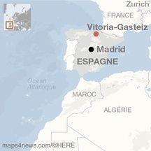 Carte de localisation de Vitoria-Gasteiz (Espagne).