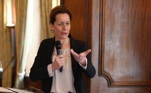 Archives. Strasbourg le 26 mars 2014. La sénatrice Fabienne Keller