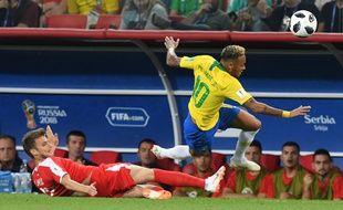 Serbie-Brésil, lors de la Coupe du monde de football, le 27 juin 2018.