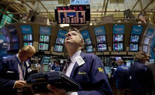La Bourse de New York le 4 août 2011.